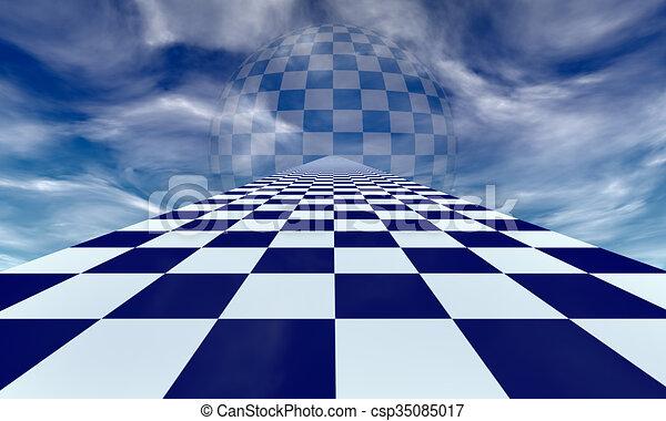 Mirage (chess metaphor) - csp35085017