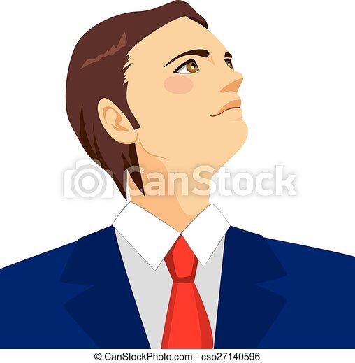 Hombre de negocios mirando al horizonte - csp27140596