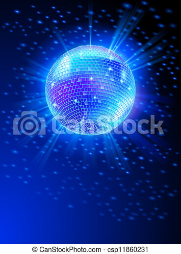 Mirror Disco Ball - csp11860231