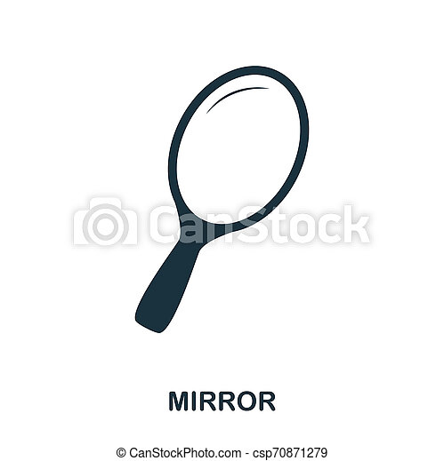 Mirror icon. Flat style icon design. UI. Illustration of mirror icon. Pictogram isolated on white. Ready to use in web design, apps, software, print. - csp70871279