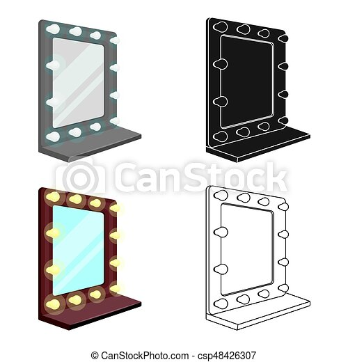 Mirror In The Make Up Roommaking Movie Single Icon In Cartoon Style