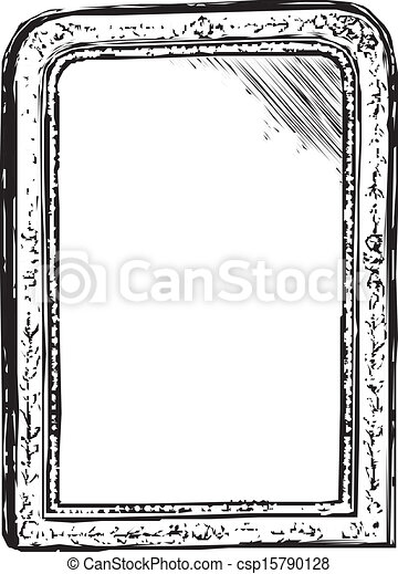 Mirror Vintage Frame Sketch Vector