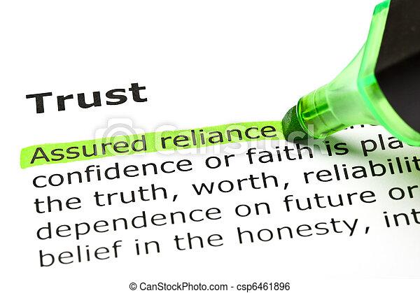 mis valeur, reliance', 'assured, 'trust', sous - csp6461896
