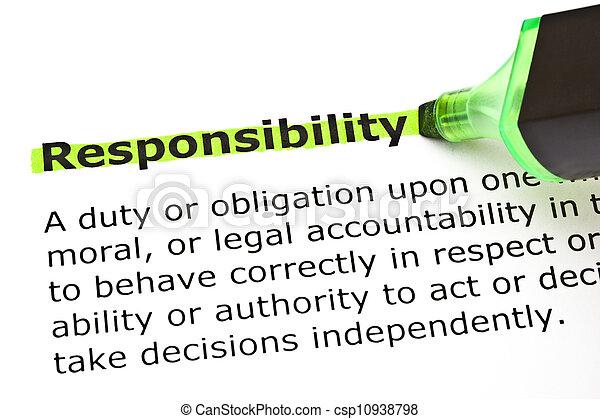 mis valeur, responsabilité, vert - csp10938798