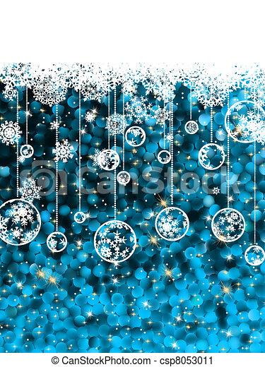 Tarjeta navideña, lindo punto misaco en azul. EPS 8 - csp8053011