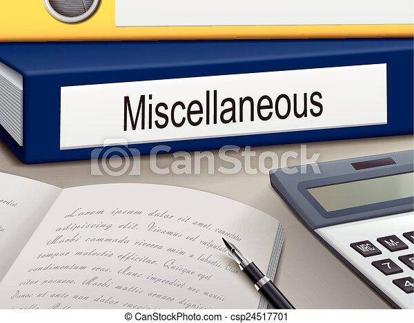 miscellaneous binders - csp24517701