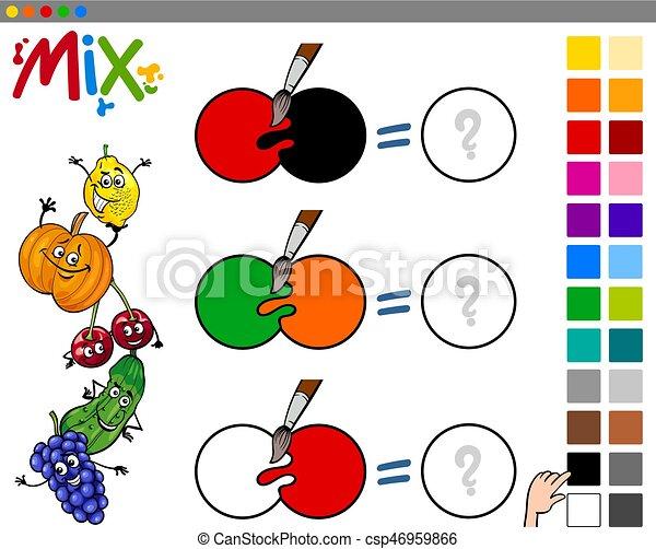 Mischling, farben, kinderspiel. Erzieherisch, kinderspiel ...