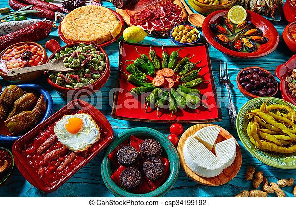 Mischling, tapas, meisten, populär, rezepte, spanien. Küche, meisten ...