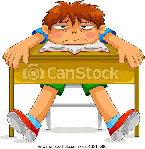 miserable student - csp13215506