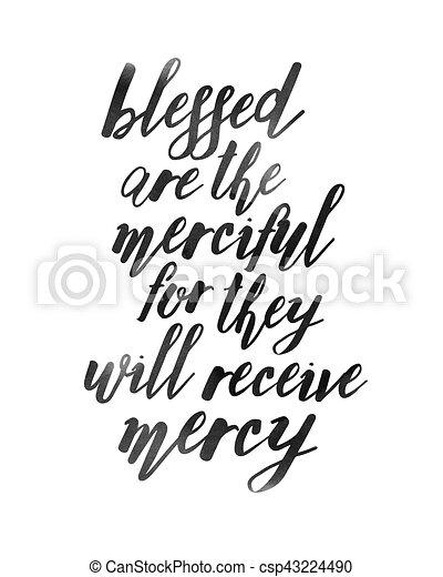 Bienaventurados los misericordiosos - csp43224490