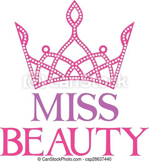 miss beauty symbol (miss beauty sig - csp28637440