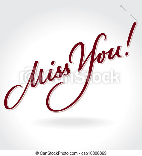 'Miss You' hand lettering (vector) - csp10808863