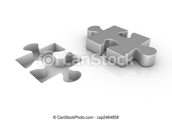 Missing Piece 3d Render Of A Jigsaw Puzzle