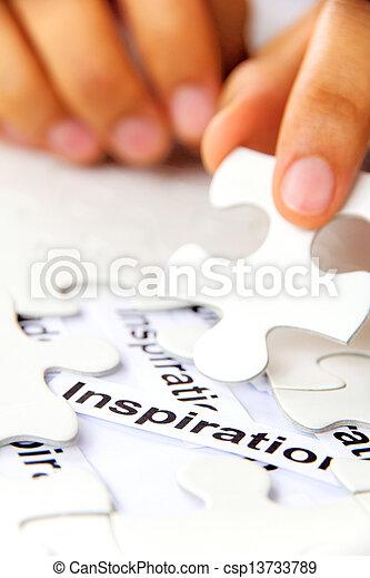 missing puzzle piece, find inspirat - csp13733789