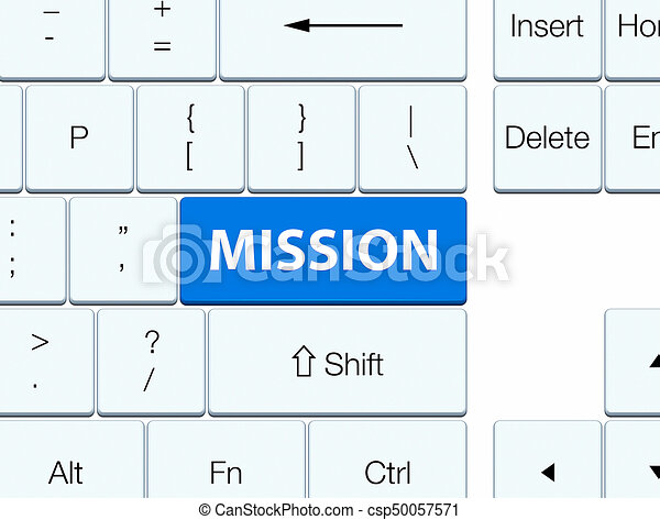 Mission blue keyboard button - csp50057571