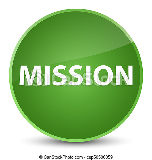 Mission elegant soft green round button - csp50506059