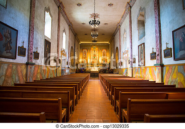 interior view photography. Wonderful Interior Mission Santa Barbara Chapel Inside  Csp13029335 With Interior View Photography A