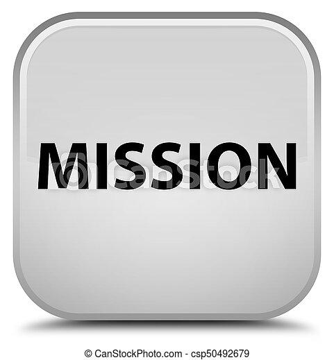 Mission special white square button - csp50492679