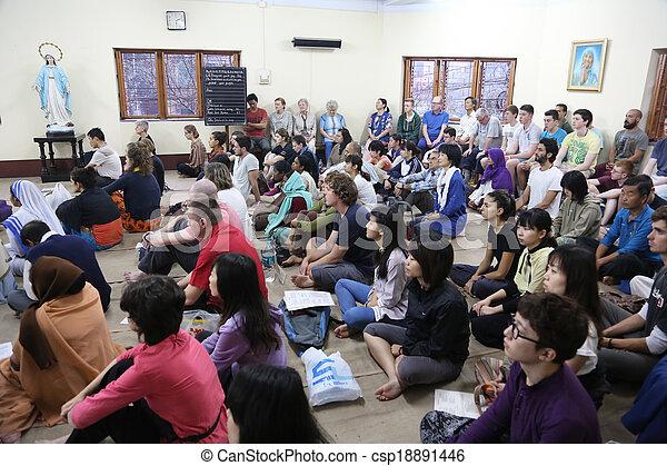 missionaries, のまわり, 固まり, 世界, ボランティア, 慈善 - csp18891446