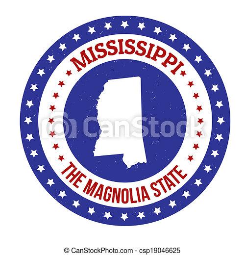 Mississippi stamp - csp19046625