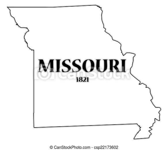 missouri state and date a missouri state outline with the date of