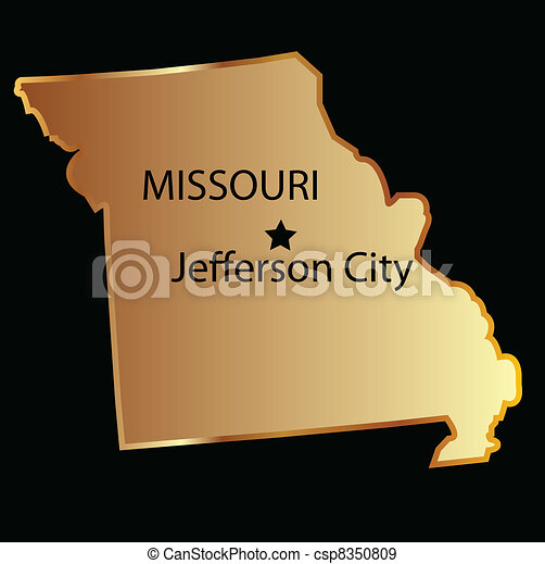 EPS Vectors Of Missouri State Map Csp Search Clip Art - Missouri state map