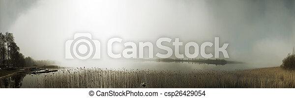 Mist panorama - csp26429054