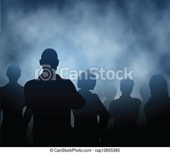 Mist people - csp12655385