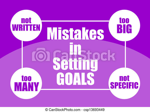 Mistakes in setting goals - csp13693449