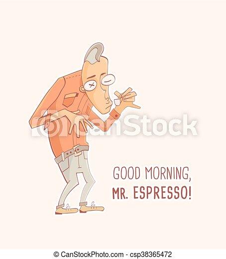 Mister Espresso Coffee - csp38365472