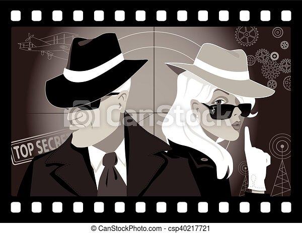 Gente misteriosa - csp40217721