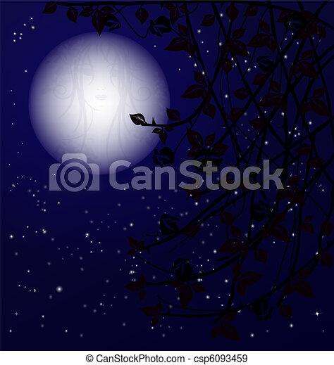 misterio, noche - csp6093459