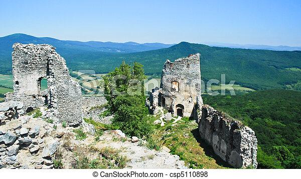 misterioso, castello - csp5110898