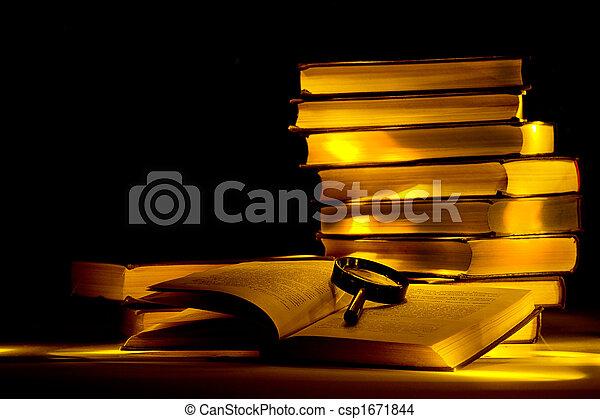 misterioso, library. - csp1671844