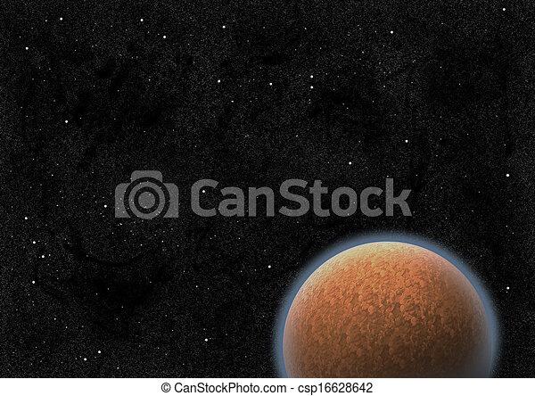 Un planeta misterioso - csp16628642
