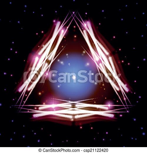 mistico, triangolo, baluginante, scintille - csp21122420