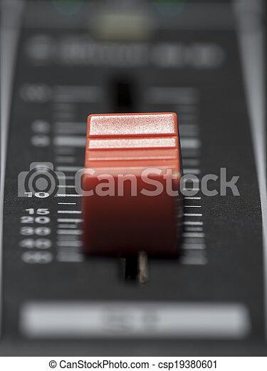 misturando, fader, escrivaninha - csp19380601