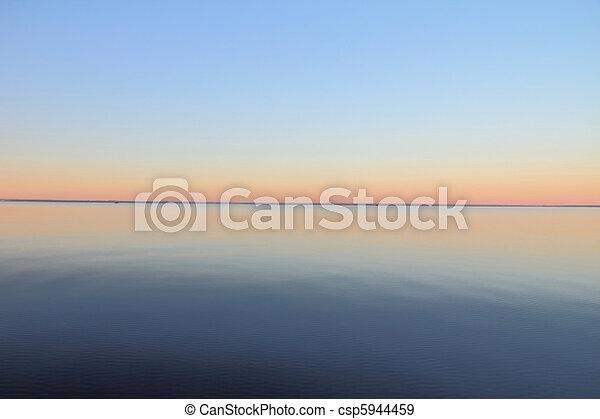 misty dawn at the lake - csp5944459