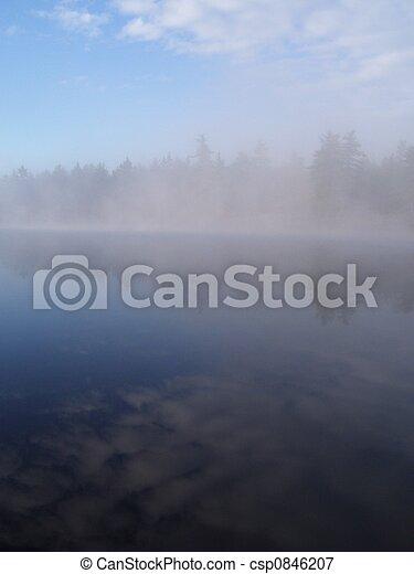 misty lake - csp0846207