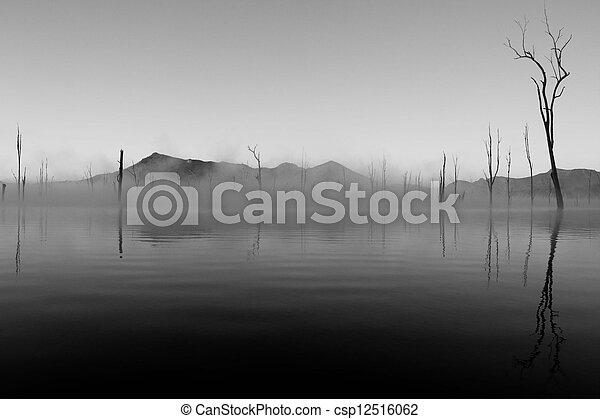 Misty Lake - csp12516062
