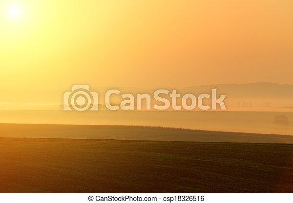 misty landscape - csp18326516