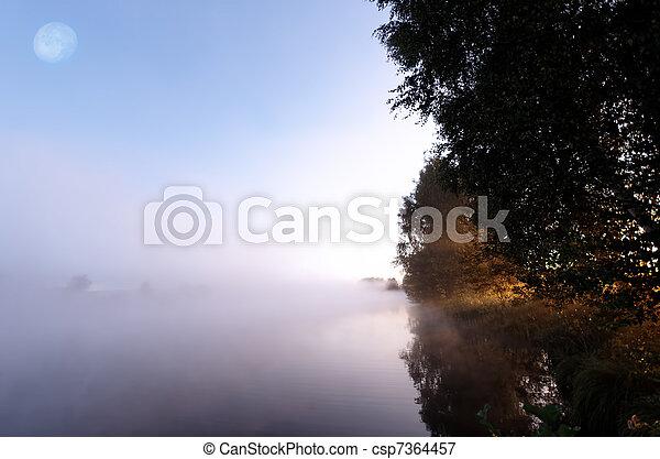misty landscape - csp7364457