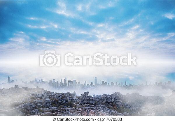 Misty landscape - csp17670583