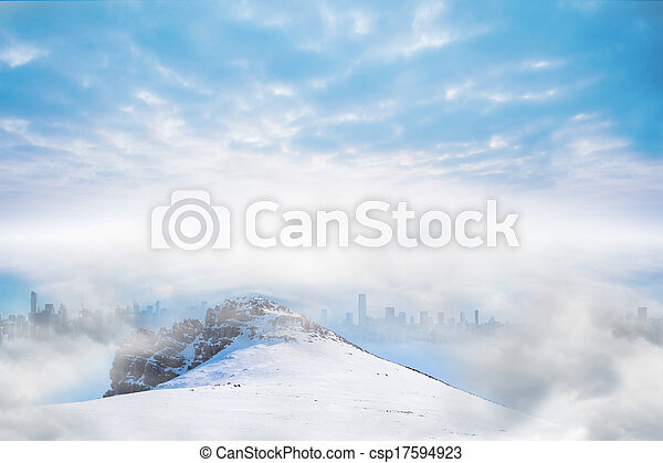 Misty landscape - csp17594923