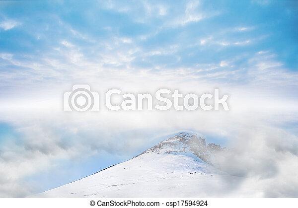 Misty landscape - csp17594924