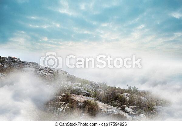 Misty landscape - csp17594926