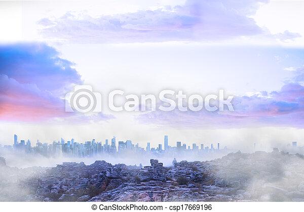Misty landscape - csp17669196