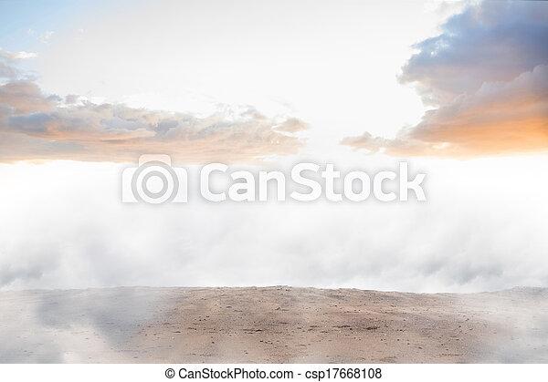 Misty landscape - csp17668108