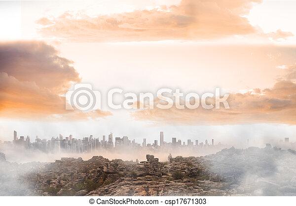Misty landscape - csp17671303
