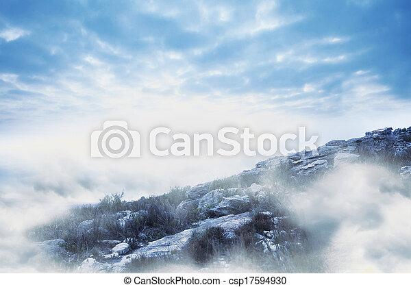 Misty landscape - csp17594930
